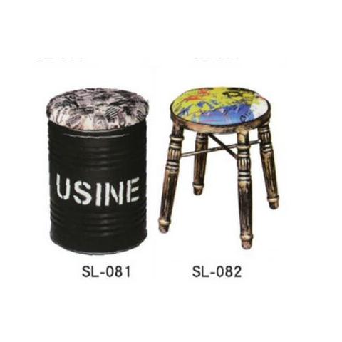 胜芳88必发手机版登录 美式复古酒吧椅 油桶凳 油漆桶 吧台凳 圆形铁皮桶 吧凳 储物凳子 盛隆家具