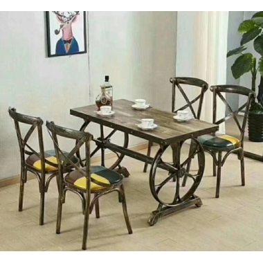 胜芳餐桌椅批发 复古工业风桌椅 转印餐桌椅 铁艺桌椅椅 复古桌椅 快餐桌椅 个性主题桌椅 钢木家具 酒店家具 鑫成家具