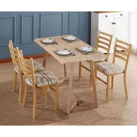 胜芳餐桌椅批发 复古式餐桌椅 实木餐桌椅 主题餐桌椅 转印餐桌椅 钢木家具 快餐桌椅 休闲家具 腾凯家具