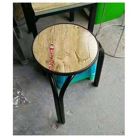 胜芳铁腿凳子批发 三腿凳子 四腿凳子 铁质凳子 钢筋凳 套凳 圆凳 木腿凳子 简易家具 腾凯家具