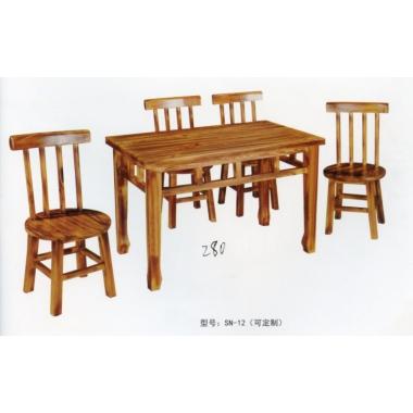 胜芳家具批发 火烧木桌椅 碳烧木桌椅 酒店桌椅 实木餐桌餐椅 户外实木餐桌椅 实木餐桌椅 原木桌椅 鑫胜楠家具