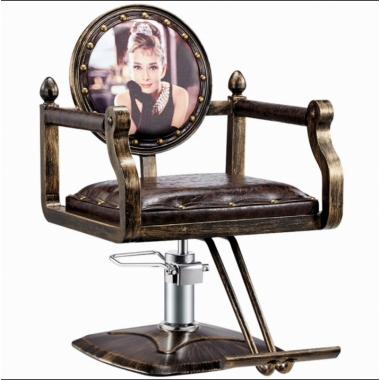 胜芳胜博发网站 铁艺复古美发椅 美容椅 美发椅 发廊升降可专用理发椅 旋转理发椅 可扶手理发椅 翰森家具
