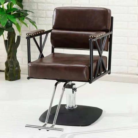胜芳家具批发 铁艺复古美发椅 美容椅 美发椅 发廊升降可专用理发椅 旋转理发椅 可扶手理发椅 翰森家具