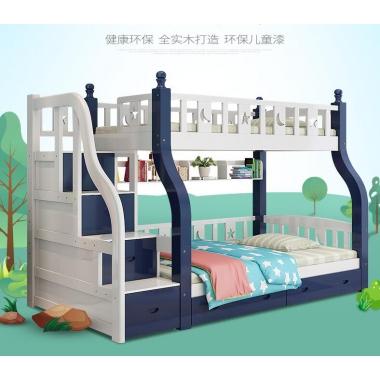 儿童床高低床男女孩子母床上下床家具双层床母子床实木上下铺床