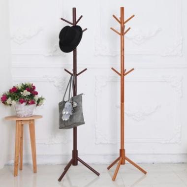 实木衣架落地衣帽架创意家具 衣服架子木质挂衣架卧室晾衣架