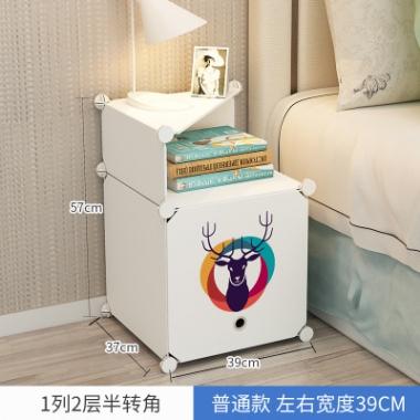 角落卧室加厚出租房用的衣柜家具便捷大学生店铺新款床头柜清新