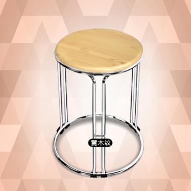 家具实用易凳耐用餐桌凳彩色加厚钢筋铁凳餐桌圆凳轻便时尚