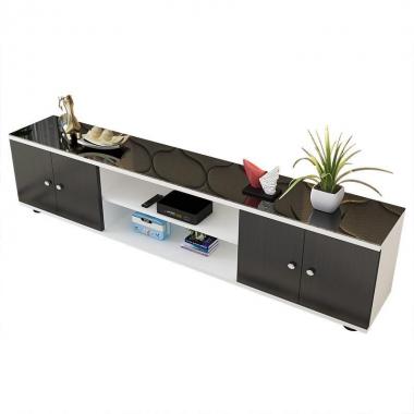 简约电视柜钢化玻璃地柜客厅家具简易柜子小户型迷你卧室储物茶几