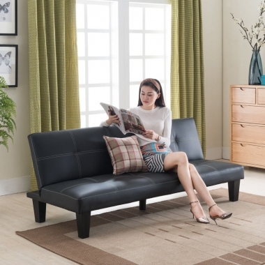 小户型客厅折叠沙发床多功能皮艺单人双人三人简易懒人沙发家具