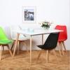 胜芳伊姆斯批发 伊姆斯桌椅 伊姆斯桌子 休闲桌椅 餐桌椅 洽谈桌椅 接待桌椅 实木腿椅子 林锋家具
