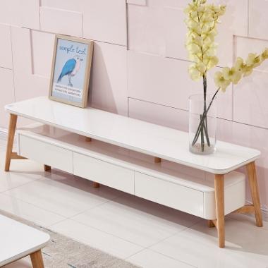 北欧电视柜茶几组合现代简约实木客厅小户型经济型家具套装组合