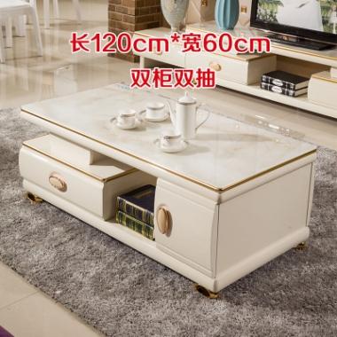 现代简约小户型玻璃茶几桌子烤漆客厅电视柜地柜组合配套家具包邮