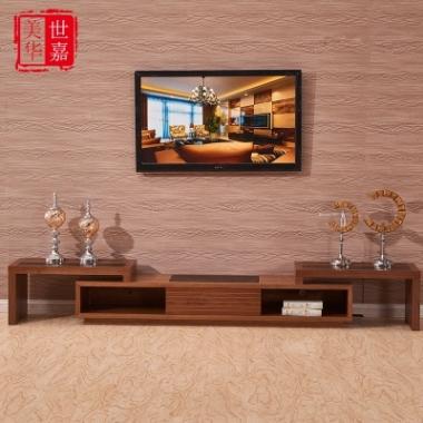 大理石火烧石茶几电视柜组合客厅家具可伸缩大小户型现代简约时尚