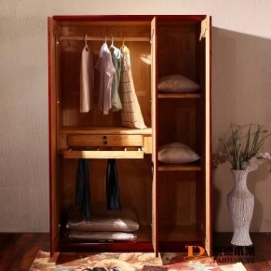 实木衣柜小户型 平开门大衣厨 水曲柳实木万博manbetx在线 三门四门衣柜特价
