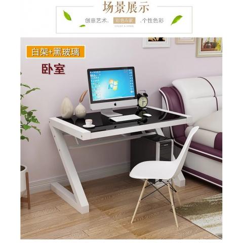 胜芳电脑桌批发 玻璃电脑桌 简易办公桌 时尚电脑桌书桌