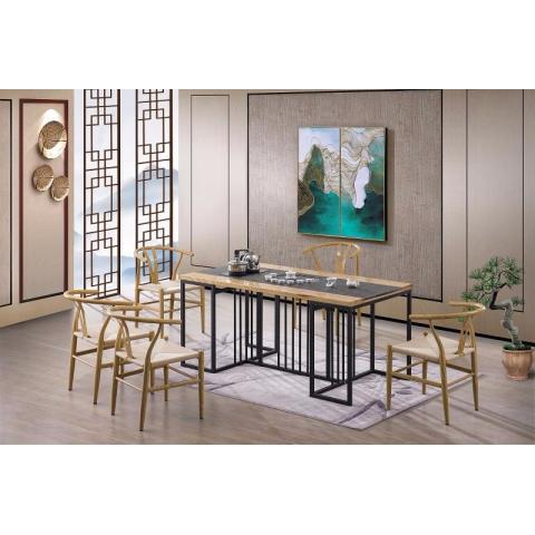 茶桌椅组合简约现代实木茶几新中式会客接待原木功夫茶艺桌泡茶桌
