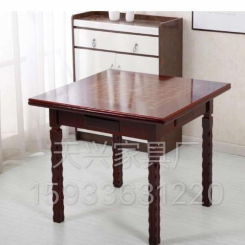 胜芳实木麻将桌批发 两用麻将桌棋牌桌餐桌