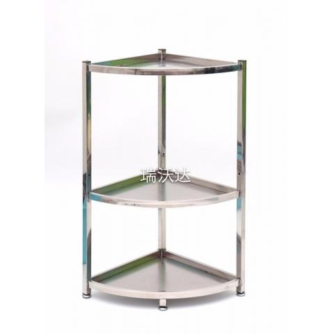 胜芳置物架批发不锈钢方管三角架厨房卫浴架瑞沃达