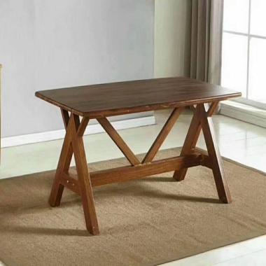 胜芳餐桌批发 复古式餐桌 实木餐桌 主题餐桌 转印餐桌 钢木家具 快餐桌 休闲家具顺琪家具