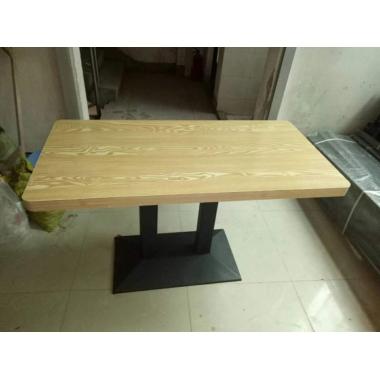 胜芳餐桌批发 复古式餐桌 实木餐桌 主题餐桌 转印餐桌 钢木家具 快餐桌 休闲家具 顺琪家具