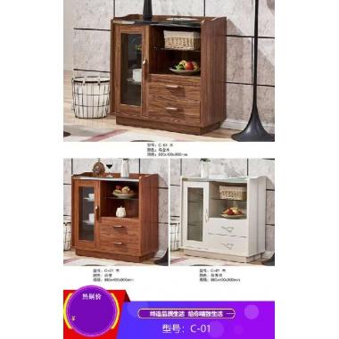 胜芳酒水柜批发 实木餐边柜 简易茶水橱柜 酒水柜 带抽屉储物碗柜 云涛家具