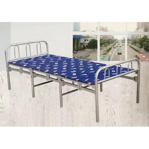 宏源床铺批发 学校学生铁床出租房铁架床铺 单层铁床 铁架床 铁艺床铺 员工宿舍床 宏源家具