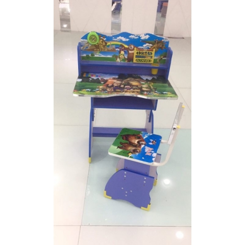胜芳儿童课桌椅批发儿童学习桌卡通图案课桌塑料课桌板式课桌可升降