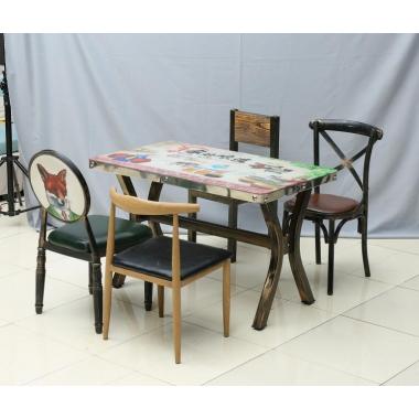 胜芳餐桌批发 北欧实木餐桌 小户型客厅家用吃饭桌厂家直销尺寸定制 咖啡西餐厅桌子饭店桌椅组合 全美家具