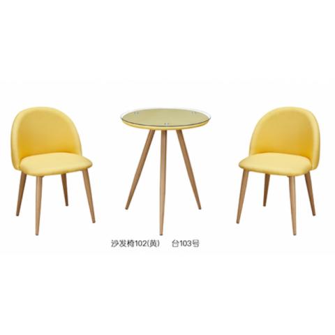 胜芳88必发手机版登录 咖啡台 咖啡桌椅组合 小圆桌 三件套会客桌椅 接待桌椅 洽谈桌椅 简约现代 锦程家具