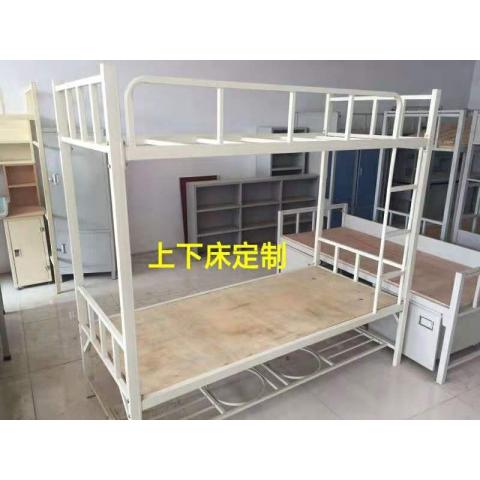 胜芳上下床批发厂家直销员工宿舍上下铺铁架床铁床学生公寓高低床工地双层铁床迪雅佳家具