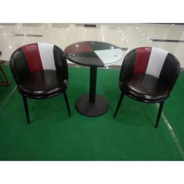 胜芳家具批发 咖啡台 咖啡桌椅组合 小圆桌 三件套会客桌椅 接待桌椅 洽谈桌椅 简约现代 锦程家具