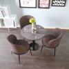 胜芳88必发手机版登录 北欧餐桌椅 组合三件套 现代简约 休闲洽谈桌 小圆桌 咖啡桌 玻璃小户型 澳典家具