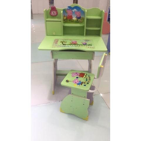 胜芳儿童课桌椅批发儿童学习桌塑料课桌卡通图案多功能手摇课桌板式课桌