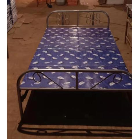 宏源床铺批发 学校学生铁床出租房铁架床铺 单层铁床折叠床 铁架床 厂家直销 铁艺床铺 员工宿舍床 宏源家具