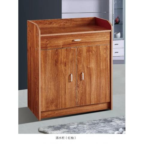 胜芳酒水柜批发 实木餐边柜 简易茶水橱柜 酒水柜 带抽屉储物碗柜 森佳家具
