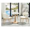 胜芳家具批发 北欧餐桌椅 组合三件套 现代简约 休闲洽谈桌 小圆桌 咖啡桌 玻璃小户型 澳典家具