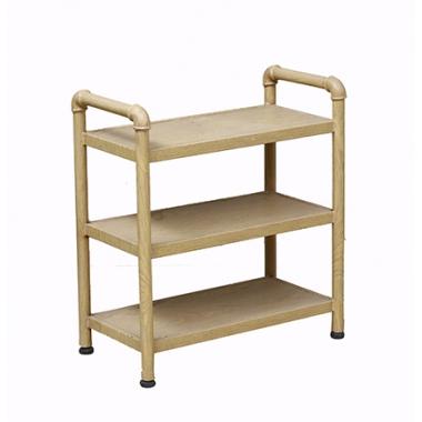 胜芳置物架批发全实木展示架简约靠墙置物架白橡木梯形架多用途书架环保恒友家具