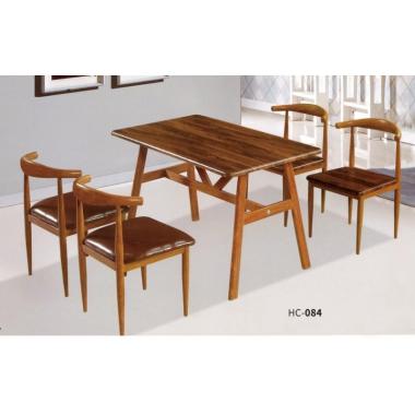 主题餐厅桌椅    牛角椅桌椅组合   实木  钢木家具   桌椅