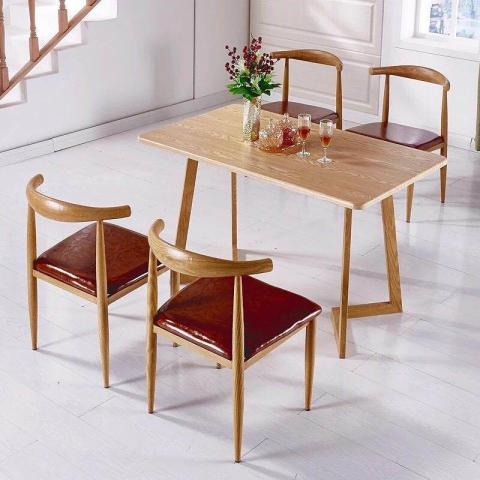 胜芳酒店家具批发 主题餐桌椅 转印餐桌椅 实木餐桌椅 快餐桌椅 景祥家具