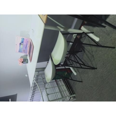 胜芳钢木桌批发简约家用小户型吃饭桌子书桌电脑桌卧式床头小桌现代铁艺休闲桌学习桌写字桌儿童迪雅佳家具