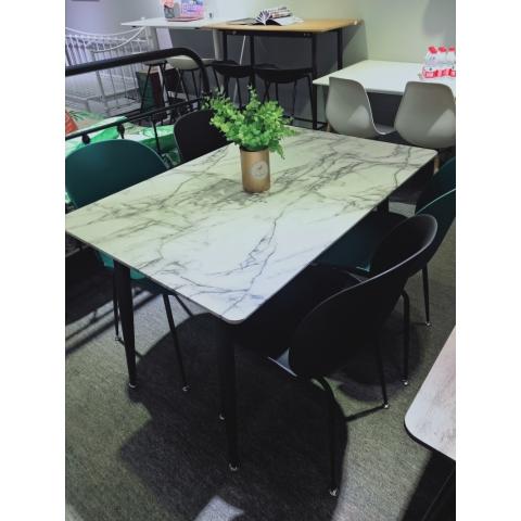 胜芳钢木桌批发简约家用小户型吃饭桌子书桌卧式床头小桌现代铁艺儿童迪雅佳家具