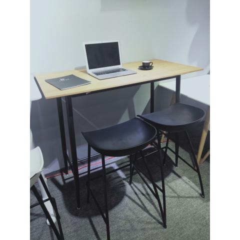 胜芳钢木桌批发简约家用电脑桌卧式床头小桌现代铁艺休闲桌学习桌写字桌儿童迪雅佳家具