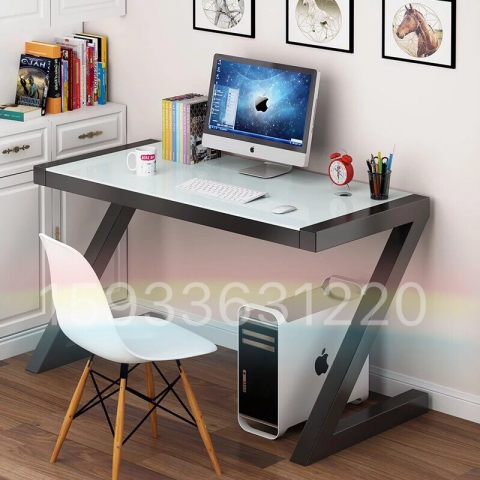 胜芳电脑桌批发 时尚简约玻璃电脑桌 学生写字台 办公桌
