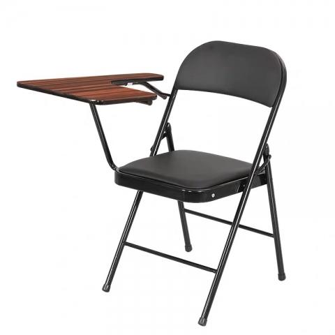 万博Manbetx官网折叠椅批发 培训椅带写字板会议记者椅学生折叠一体桌椅教学写字办公塑钢椅子 华特万博manbetx在线
