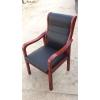 会议椅 棋牌室橡胶木高级会议椅 四腿办公椅 实木办公椅 带扶手靠背椅办公椅