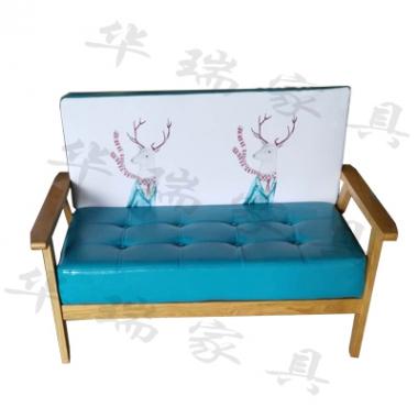 胜芳家具批发 二人位沙发 卡座 咖啡椅 懒人椅 沙发椅 复古铁艺卡座 休闲 餐馆西餐厅咖啡厅桌椅组合 谈桌椅组合 华瑞家具