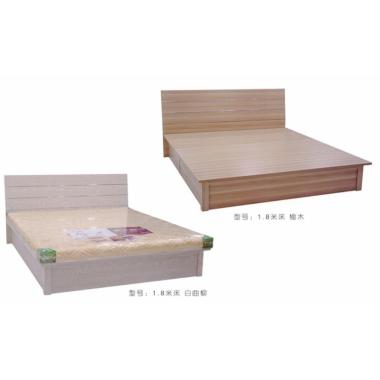 胜芳床铺批发 双人床 实木床 铁条床 折叠双人床 木质双人床 双人板床 北欧家具 卧室家具 酒店家具  璐阳家具