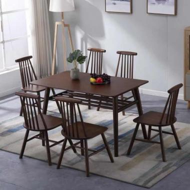 北欧餐桌椅组合小户型实木餐桌椅组合现代简约餐桌家用小户型
