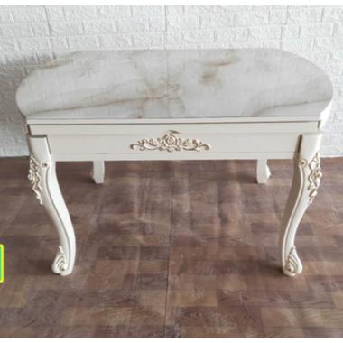 欧式大理石伸缩折叠实木餐桌椅组合 饭桌餐椅套装 大理石台面