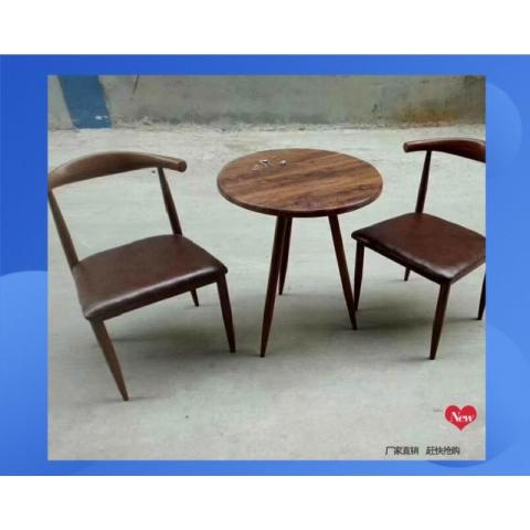 胜芳家具批发 咖啡台 咖啡桌椅组合 小圆桌 三件套会客桌椅 接待桌椅 洽谈桌椅 简约现代  绍明家具